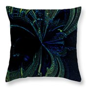 Color Study 02 Green Blue Throw Pillow