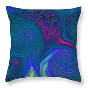 Color Swirl Abstract Throw Pillow