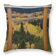 Colorado Autumn Picture Window Frame Art Photos Throw Pillow