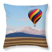 Colorado Ballooning Throw Pillow