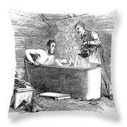 Colorado Bathhouse, 1879 Throw Pillow