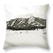 Colorado Boulder Flatirons  Throw Pillow