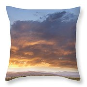 Colorado Evening Light Throw Pillow