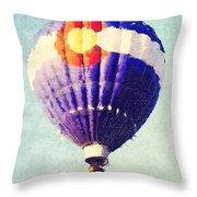 Colorado Flag Hot Air Balloon Throw Pillow