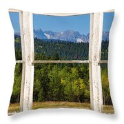 Colorado Indian Peaks Autumn Rustic Window View Throw Pillow by James BO  Insogna