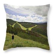 Colorado Mountain Freedom Throw Pillow