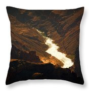 Colorado River Rapids Throw Pillow