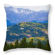 Colorado Rocky Mountain Autumn View Throw Pillow