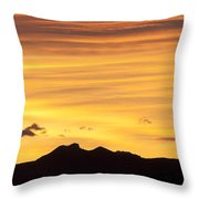 Colorado Sunrise Landscape Throw Pillow