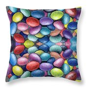 Colored Beans Design Throw Pillow