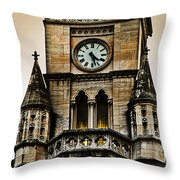 Colored Clock Throw Pillow