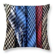 Colored Palestinian Keffiyeh Throw Pillow