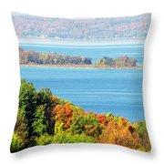 Colored Peninsula  Throw Pillow
