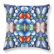 Colored Rocks Design Throw Pillow