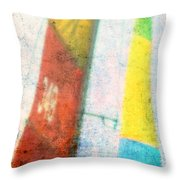 Colored Sailing Throw Pillow