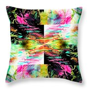 Colored Tubes Throw Pillow