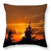 Colorfrul Sunset I Throw Pillow