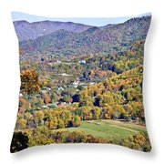 Colorful Autumn Valley Throw Pillow