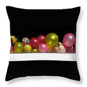 Colorful Balls In The Shop Window Throw Pillow by Ausra Huntington nee Paulauskaite