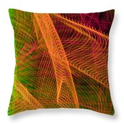 Colorful Beams 1 Throw Pillow