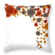 Colorful Blades Throw Pillow
