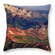 Colorful Colorado Rocky Mountains Planet Art Throw Pillow