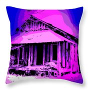 Colorful Cracker House Throw Pillow
