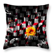 Colorful Cubed Beauty Throw Pillow
