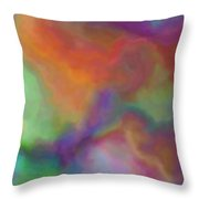 Colorful Dreams Abstract Throw Pillow