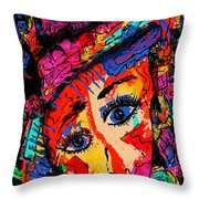 Colorful Expression 19 Throw Pillow