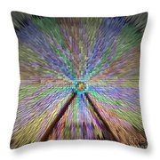Colorful Fair Wheel Throw Pillow