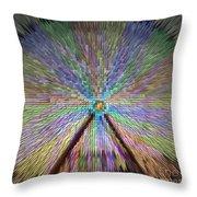 Colorful Fair Wheel Throw Pillow