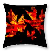 Colorful Fall Leaves Throw Pillow