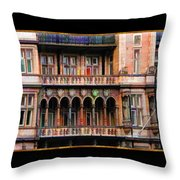 Colorful Fastasy British Building Throw Pillow