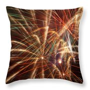 Colorful Fireworks Throw Pillow
