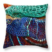Colorful Fishing Nets 2 Throw Pillow