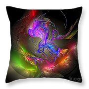 Colorful Flower Relief Throw Pillow