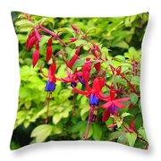 Colorful Fuchsia Throw Pillow