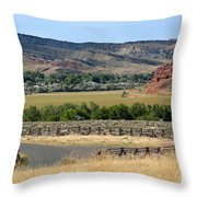 Colorful Hills Of Wyoming Throw Pillow