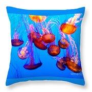 Colorful Jellies Throw Pillow by Ellen Heaverlo