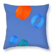Colorful Kites Throw Pillow by David Lee Thompson