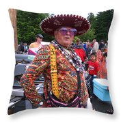 Colorful Man Of The Festival Throw Pillow