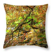 Colorful Maple Leaves Throw Pillow