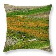 Colorful Mats Throw Pillow