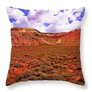 Colorful Mesas At Fossil Butte Nm Butte Throw Pillow
