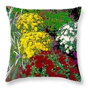 Colorful Mums Photo Art Throw Pillow