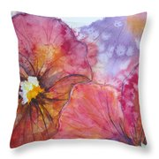 Colorful Pansies Throw Pillow