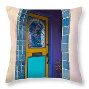 Colorful Porch Throw Pillow
