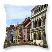 Colorful Posnan Throw Pillow