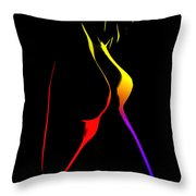 Colorful Shapes Throw Pillow